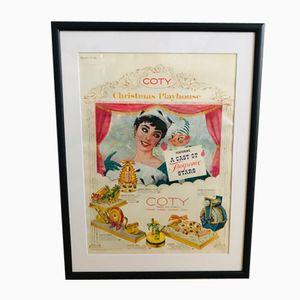 Affiche Publicitaire Coty Vintage, 1950s