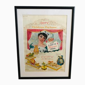 Vintage Coty Advertisement Poster, 1950s