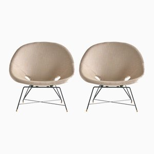 Vintage Kosmos Lounge Chairs by Augusto Bozzi for Saporiti, 1956, Set of 2