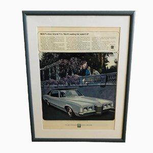 Mid-Century Pontiac Grand Prix Poster, 1969