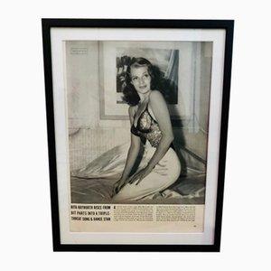 Poster raffigurante Rita Hayworth, anni '40