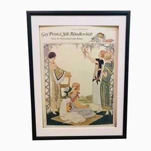 Vintage Werbeposter für Taschentücher, 1923