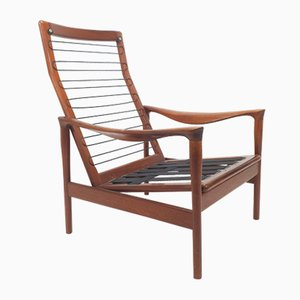 Dutch Teak Armchairs from De Ster Gelderland, 1950s, Set of