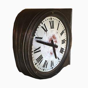 Französische industrielle Vintage Uhr aus Gusseisen von Paul Garnier