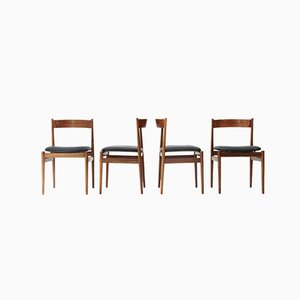 Italian Model 101 Dining Chairs by Gianfranco Frattini for Cassina, 1950s, Set of 4