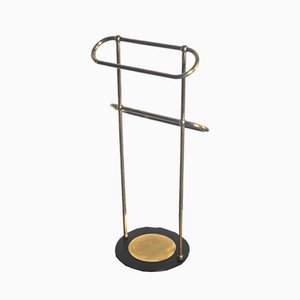 Vintage Italian Brass and Iron Towel Rack, 1930s
