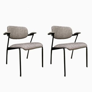 Gray Armchairs by Willy van der Meeren for Tubax, 1950s, Set of 2