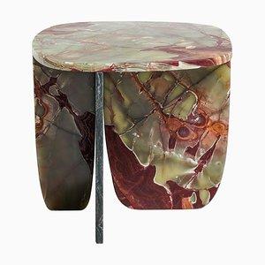 Mesa de centro de ónice verde y rojo de Oskar Peet & Sophie Mensen