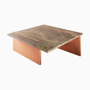 Table Basse en Marbre Incrusté par Nick Ross