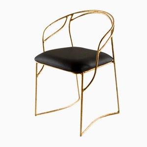 Handsculpted Brass Chair by Masaya