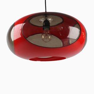 Lámpara de techo UFO de plástico de Luigi Colani, años 70
