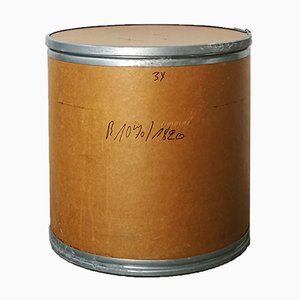 Beistelltisch aus galvanisiertem Metall & Pappmaché, 1970er