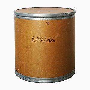 Mesa auxiliar de metal galvanizado y papel maché, años 70