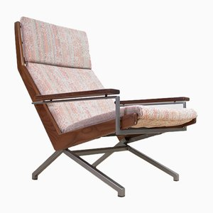 Fabric, Metal, & Wood Armchair by Rob Parry for De Ster Gelderland, 1960s