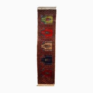 Usbekischer handgearbeiteter Vintage Bukhara Wollteppich, 1970er