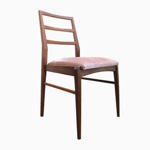 Esszimmerstühle aus Afromosia & Samt von Richard Hornby für Fyne Ladye, 1960er, 4er Set