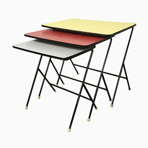 Mid-Century Laminate Nesting Tables from Artimeta, 1950s
