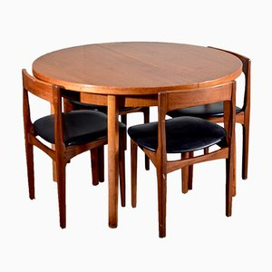 Leatherette & Teak Dining Room Set from Nathan, 1960s