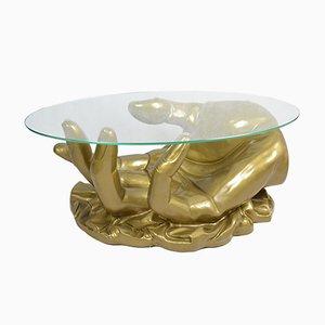 Tavolino da caffè a forma di mano in stile Hollywood Regency, Francia, anni '70