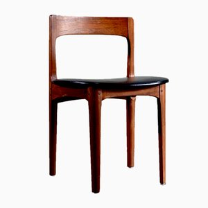 Leatherette & Teak Dining Chairs from Nathan, 1960s, Set of 4