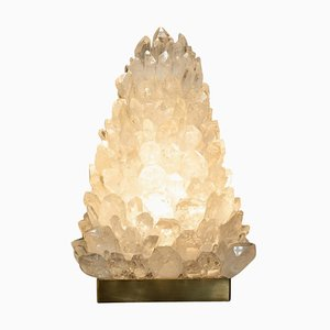 Pyramid Rock Crystal Table Lamp by Demian Quincke