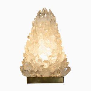 Pyramid Tischlampe aus Bergkristall von Demian Quincke