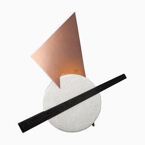 Handgefertigte Crest Tischlampe aus Marmor von Skeld