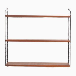 Metal, Teak, and Veneer Shelf by Kajsa & Nils, 1960s
