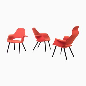Organic Chairs by Charles Eames & Eero Saarinen, 1990s, Set of 3