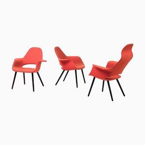 Sillas Organic de Charles Eames & Eero Saarinen, años 90. Juego de 3