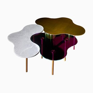 Brass Coffee Tables by Sebastian Scherer, Set of 3