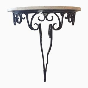 Mid-Century Wrought Iron Console Table, 1950s