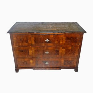 19th-Century Walnut Inlaid Dresser
