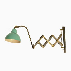 Mid-Century Italian Aluminum and Brass Sconce, 1950s