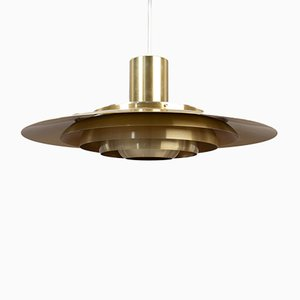 Lampada da soffitto moderna in alluminio di Preben Fabricius & Jørgen Kastholm per Nordisk Solar, Scandinavia, 1964