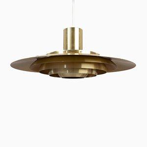 Scandinavian Modern Danish Aluminum Ceiling Lamp by Preben Fabricius & Jørgen Kastholm for Nordisk Solar, 1964