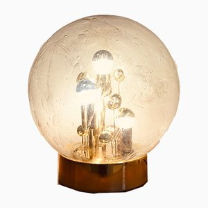 German Murano Glass & Pewter Golden Table Lamp from Doria Leuchten, 1970s