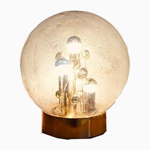 Lampada da tavolo in vetro di Murano e Doratura di Doria Leuchten, Germania, anni '70