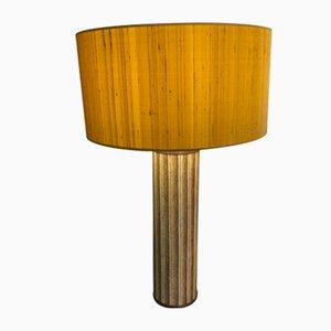 Lampe de Bureau en Métal Jaune par Atelier Fornasetti, Italie, 1960s