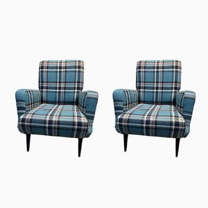 Italian Model 806 Armchairs by Carlo de Carli for Cassina, 1950s, Set of 2