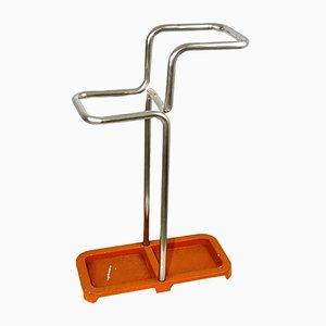 Paragüero estilo Bauhaus de acero tubular y aluminio, años 30