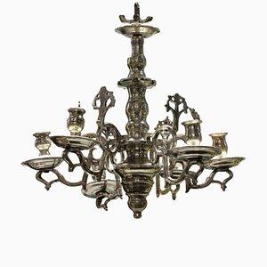 Petit Lustre Candélabre Flamand Antique en Argent, 1800s