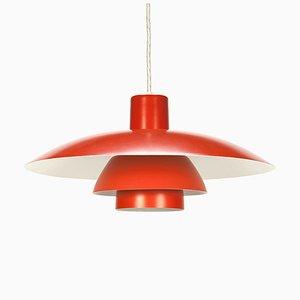 Lámpara colgante PH 4/3 en naranja de Poul Henningsen para Louis Poulsen, años 60