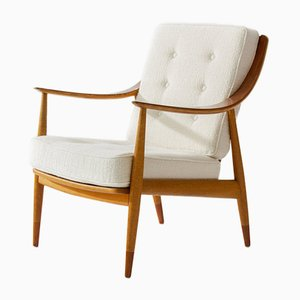 Scandinavian FD144 Easy Chair by Peter Hvidt & Orla Mølgaard-Nielsen for France & Daverkosen, 1950s