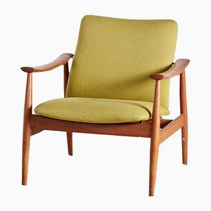 Danish Teak & Upholstery Armchair by Finn Juhl for France & Søn, 1960s