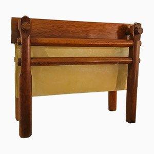 Revistero de madera de cerezo de Olaio, años 50