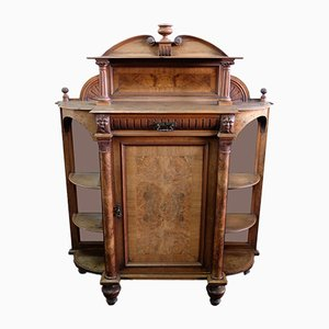 Antique Mahogany and Burl Cabinet