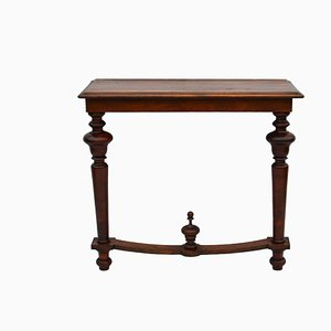 Small Antique Swedish Walnut Console Table
