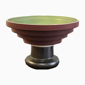 Italian Earthenware Tiled Memphis Bowl by Ettore Sottsass for Bitossi, 1980s
