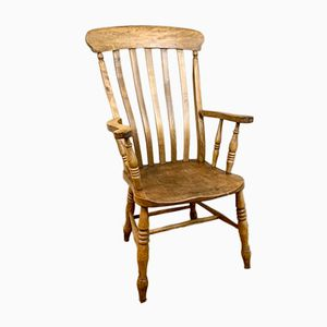 Antique Beech & Elm Side Chair